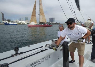 Offering private sailing charters